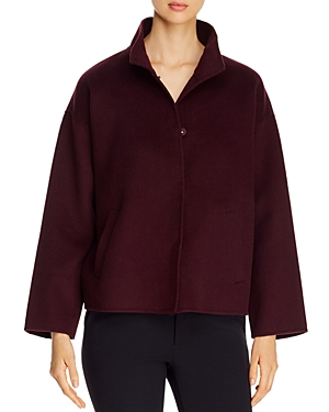 Eileen Fisher Wools WOOL & CASHMERE BOXY COAT