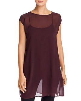 Eileen Fisher - Sheer Cap-Sleeve Tunic