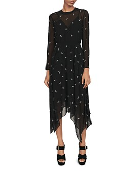 Maje - Rabilo Paisley-Embellished Midi Dress