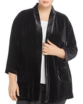 Eileen Fisher Plus - Velvet Open Jacket
