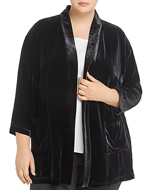 Eileen Fisher Plus Velvet Open Jacket