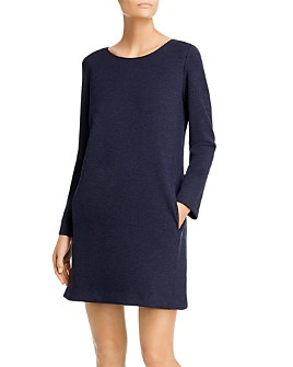 Theory - Long-Sleeve Knit Shift Dress