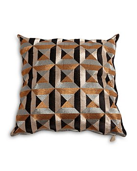 "Global Views - Triangle-Marquetry Down Pillow, 20"" x 20"""