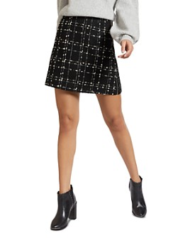 Ted Baker - Chele Metallic Bouclé Mini Skirt