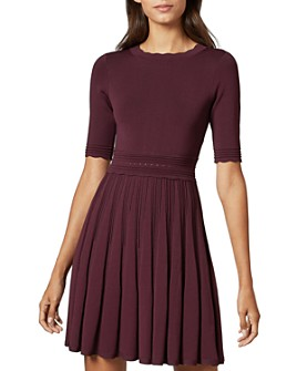 Ted Baker - Dorlean Scallop Trim Knit Skater Dress