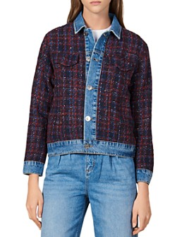 Sandro - Chelsy Denim-Trimmed Tweed Jacket