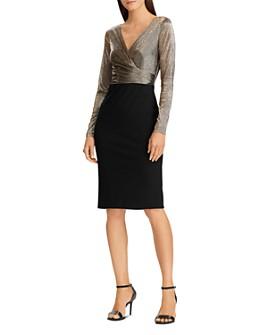 Ralph Lauren - Metallic & Jersey Dress