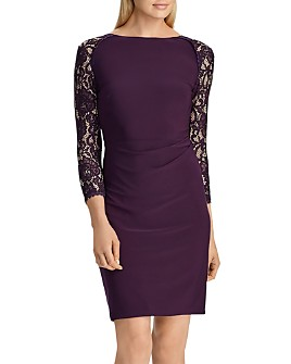 Ralph Lauren - Jersey & Lace Dress