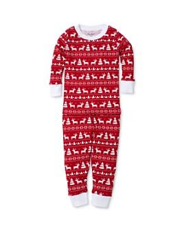 Kissy Kissy - Unisex Reindeer Print Tee & Pants Pajama Set - Baby