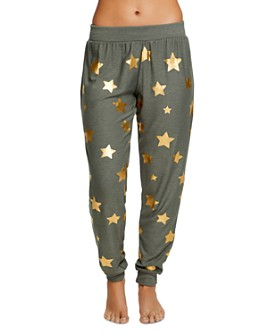 CHASER - Metallic Star Print Sweatpants