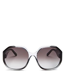 Salvatore Ferragamo - Women's Gancini Square Sunglasses, 60mm