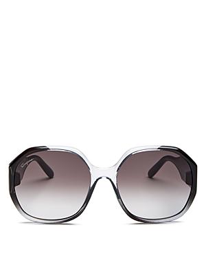 Salvatore Ferragamo Women's Gancini Square Sunglasses, 60mm