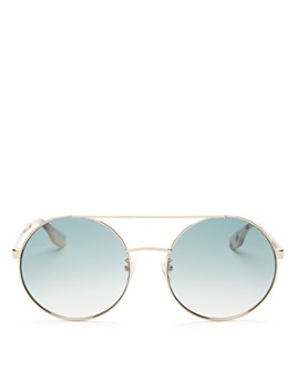 McQ Alexander McQueen - Women's Brow Bar Round Sunglasses, 59mm
