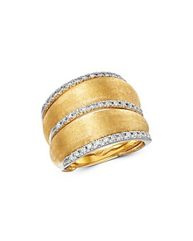 Marco Bicego - 18K Yellow Gold Lucia Diamond Wide Ring