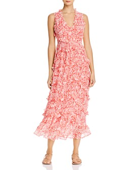 Banjanan - Gizela Ruffled Floral-Print Maxi Dress