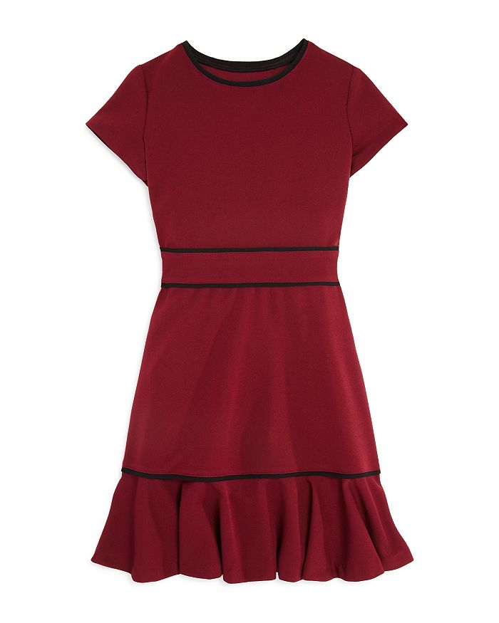 AQUA - Girls' Flounced Cap-Sleeve Dress, Big Kid - 100% Exclusive