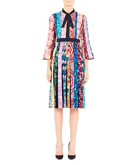 Mary Katrantzou - Desmine Pleated Multicolor Midi Dress