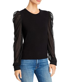 Generation Love - Quinn Embellished Puff-Sleeve Top