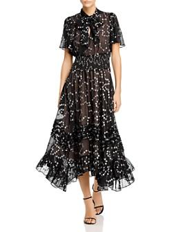 Rebecca Taylor - Silk-Blend Metallic-Dot Maxi Dress
