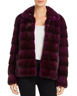Maximilian Furs - Short Mink Fur Coat - 100% Exclusive