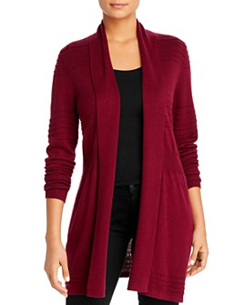 Avec - Pointelle-Trimmed Open Cardigan