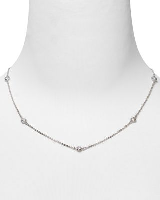 Station Chain Necklace, 36""
