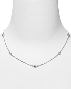 Crislu Cubic Zirconia Accented Chain Necklace - Bloomingdale's_0