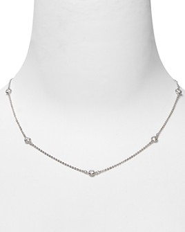 Crislu - Crislu Cubic Zirconia Accented Chain Necklace