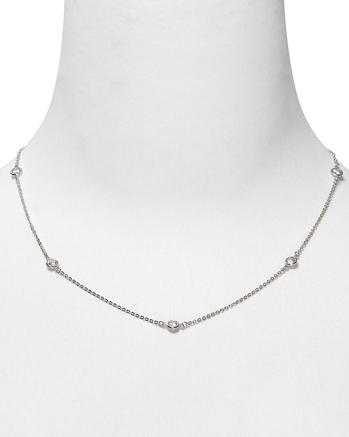 Crislu - Cubic Zirconia Accented Chain Necklace