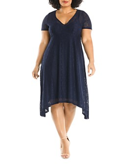 Estelle Plus - Deep Sea Lace Dress