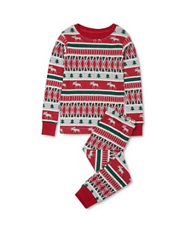 Hatley - Unisex Winter Fair Isle Tee & Winter Fair Isle Pants Pajama Set - Little Kid, Big Kid