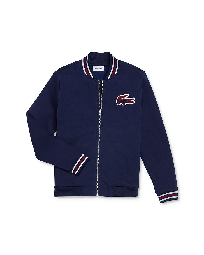 Lacoste - Boys' Teddy Logo Letterman Jacket - Little Kid, Big Kid