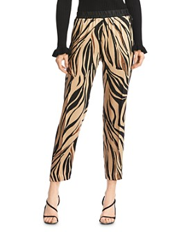 Bailey 44 - Kyle Satin Zebra Print Pants