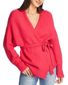 1.STATE - Belted Wrap Sweater
