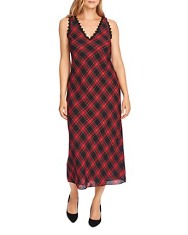 VINCE CAMUTO - Tartan Maxi Dress