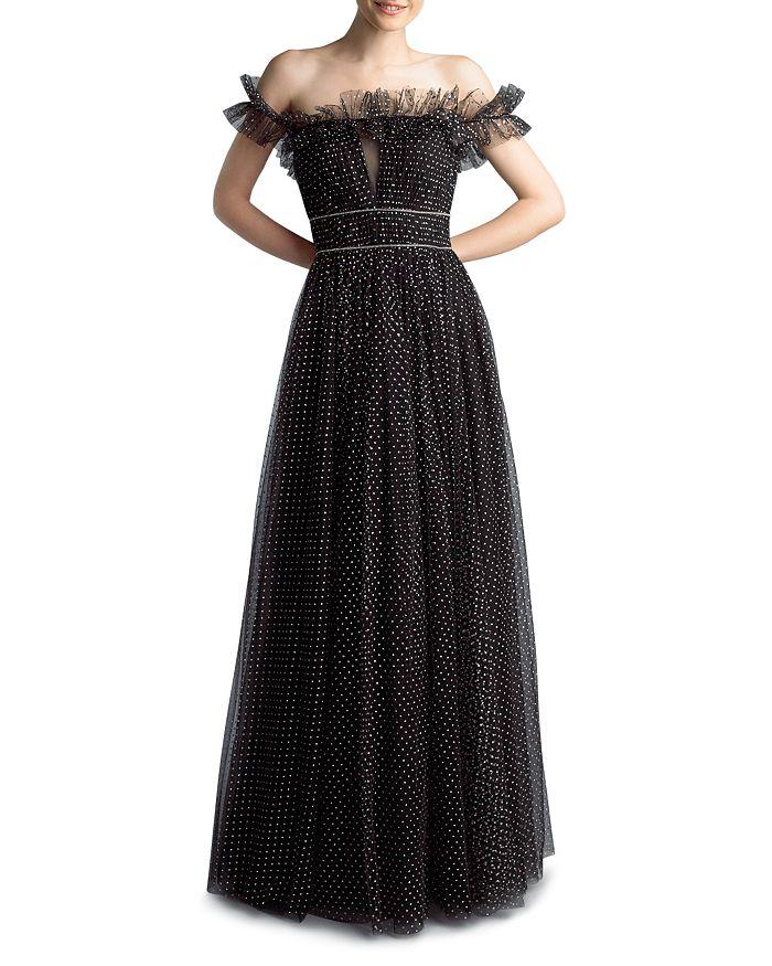 Basix - Metallic Dot Tulle Dress