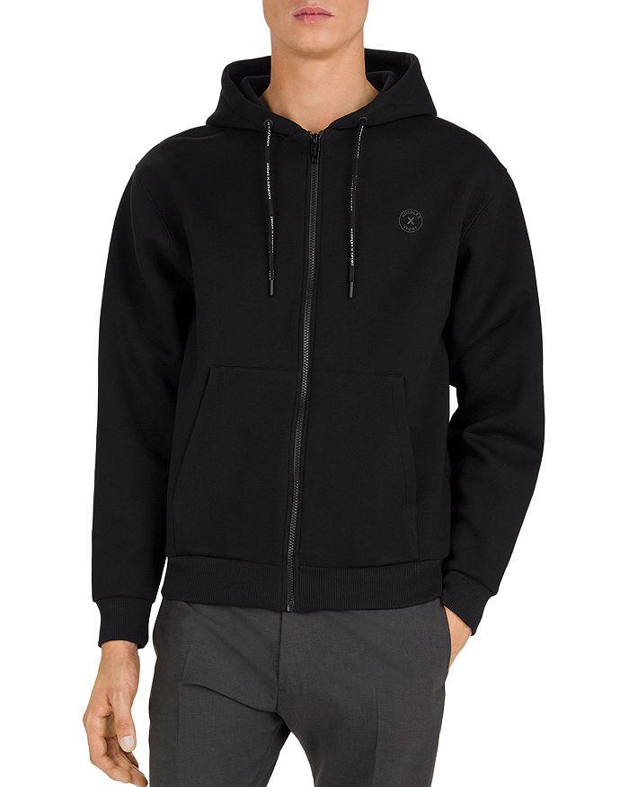 The Kooples - Technical Fleece Hooded Sweatshirt