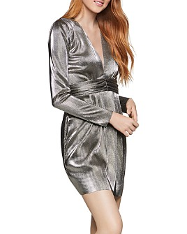 BCBGENERATION - Metallic Empire-Waist Dress