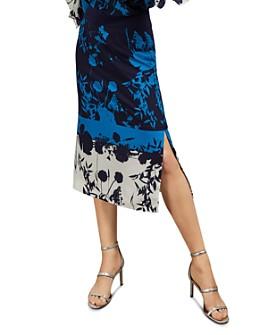 Ted Baker - Selaah Bluebell Floral Print Midi Skirt