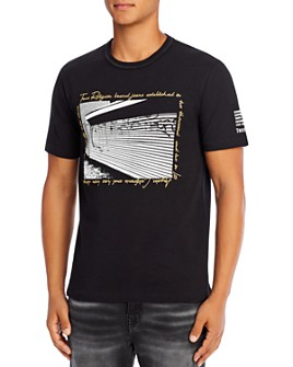True Religion - Horseshoe Lurex Graphic Logo Tee
