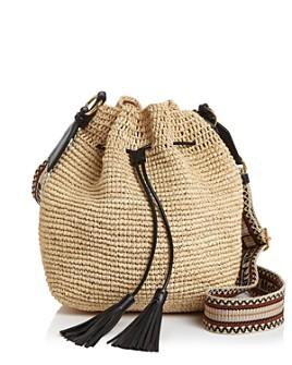Stella McCartney - Mini Raffia Bucket Bag