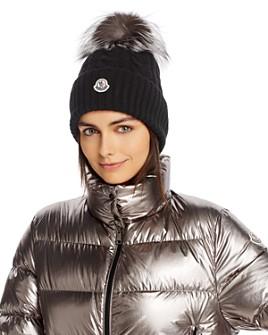 Moncler - Fox Fur Pom-Pom Cable-Knit Beanie