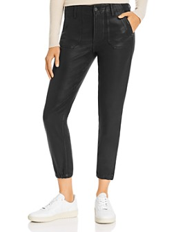 PAIGE - Mayslie Jogger Jeans in Black Fog Luxe Coating