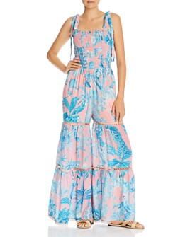 Hemant and Nandita - Botanical Print Crêpe Wide-Leg Jumpsuit