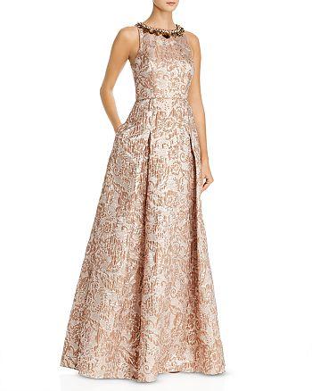 Aidan Mattox - Embellished Jacquard Ball Gown