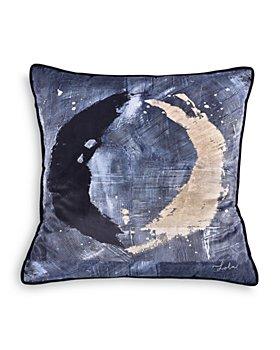 "Ren-Wil - Novella Velvet Pillow With Black Piping, 20"" x 20"""