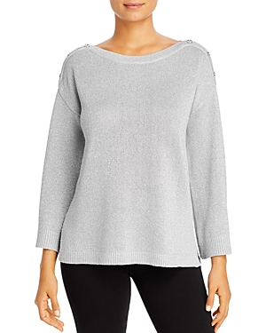 Calvin Klein Sweaters METALLIC BUTTON-SHOULDER SWEATER