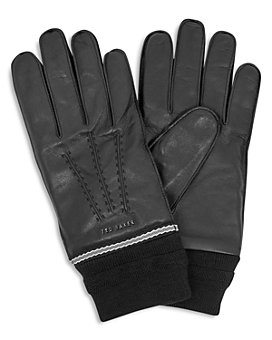 Ted Baker - Quirk Knit-Cuff Leather Gloves