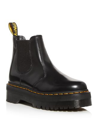 Women's Quad Platform Booties by Dr. Martens