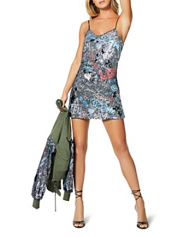 Ramy Brook - Darcie Sequin Graffiti Mini Dress